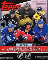 2020-21 Topps NHL Hockey Sticker Collection Paper Album