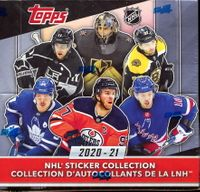 2020-21 Topps NHL Sticker Collection Box