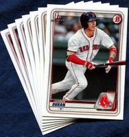 2020 Bowman & Prospects Boston Red Sox Baseball Cards Team Set