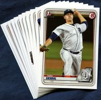 2020 Bowman & Prospects Detroit Tigers Baseball Cards Team Set