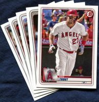 2020 Bowman & Prospects Los Angeles Angels Baseball Cards Team Set