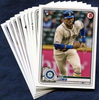 2020 Bowman & Prospects Seattle Mariners Baseball Cards Team Set