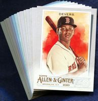 2020 Topps Allen and Ginter Boston Red Sox Baseball Cards Team Set