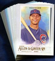 2020 Topps Allen and Ginter Chicago Cubs Baseball Cards Team Set