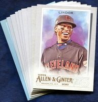2020 Topps Allen and Ginter Cleveland Indians Baseball Cards Team Set