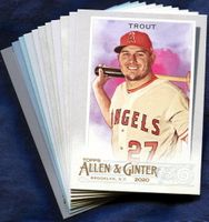 2020 Topps Allen and Ginter Los Angeles Angels Baseball Cards Team Set