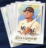 2020 Topps Allen and Ginter Miami Marlins Baseball Cards Team Set