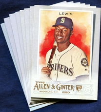 2020 Topps Allen and Ginter Seattle Mariners Baseball Cards Team Set