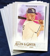 2020 Topps Allen and Ginter Tampa Bay Rays Baseball Cards Team Set