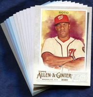 2020 Topps Allen and Ginter Washington Nationals Baseball Cards Team Set with Expos