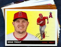 2020 Topps Archives Los Angeles Angels Baseball Cards Team Set
