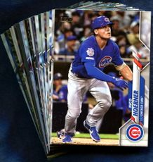 2020 Topps Chicago Cubs Baseball Cards Team Set