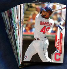 2020 Topps Cleveland Indians Baseball Cards Team Set