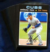 2020 Topps Heritage Chicago Cubs Baseball Card Singles