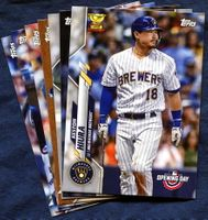 2020 Topps Opening Day Milwaukee Brewers Baseball Cards Team Set