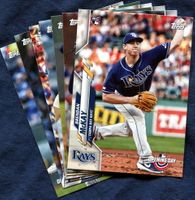 2020 Topps Opening Day Tampa Bay Rays Baseball Cards Team Set
