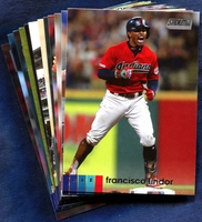 2020 Topps Stadium Club Cleveland Indians Baseball Cards Team Set