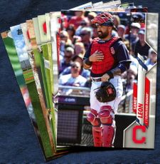 2020 Topps Update Cleveland Indians Baseball Cards Team Set