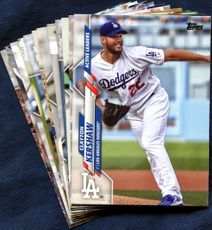2020 Topps Update Los Angeles Dodgers Baseball Cards Team Set