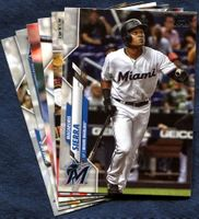 2020 Topps Update Miami Marlins Baseball Cards Team Set