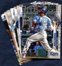 2020 Topps Update Tampa Bay Rays Baseball Cards Team Set