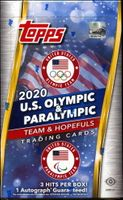 2020 Topps US Olympic & Paralympic Trading Cards Hobby Box