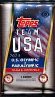 2020 Topps US Olympic & Paralympic Trading Cards Hobby Pack