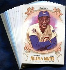 2021 Topps Allen and Ginter Chicago Cubs Baseball Cards Team Set