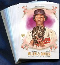 2021 Topps Allen and Ginter Cleveland Indians Baseball Cards Team Set