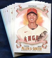 2021 Topps Allen and Ginter Los Angeles Angels Baseball Cards Team Set