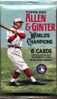 2021 Topps Allen & Ginter Trading Cards Retail Pack From Blaster