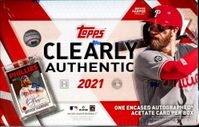 2021 Topps Clearly Authentic Baseball Card Hobby Box