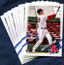 2021 Topps Opening Day Boston Red Sox Baseball Cards Team Set