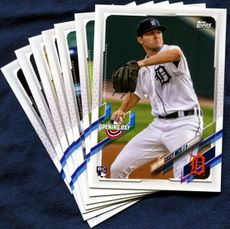 2021 Topps Opening Day Detroit Tigers Baseball Cards Team Set