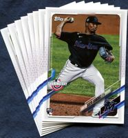 2021 Topps Opening Day Miami Marlins Baseball Cards Team Set