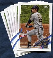 2021 Topps Opening Day Milwaukee Brewers Baseball Cards Team Set