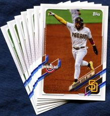 2021 Topps Opening Day San Diego Padres Baseball Cards Team Set