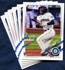 2021 Topps Opening Day Seattle Mariners Baseball Cards Team Set