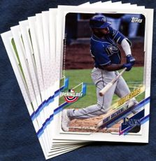 2021 Topps Opening Day Tampa Bay Rays Baseball Cards Team Set