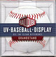 BallQube Baseball Display Holder - UV Protection - Grandstand Base
