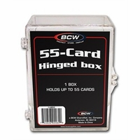 BCW HINGED TRADING CARD BOX - Hold Up To 55 Sports Cards