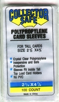 Collector Safe Card Sleeves For Tall Cards