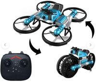 Leap Remote Control 2-in-1 Land Travel Air Flight Deformation Motorcycle Quadcopter