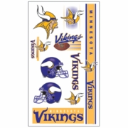 Minnesota Vikings NFL Temporary Tattoos
