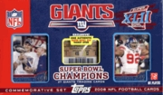 New York Giants Topps NFL Super Bowl XLII Champions Limited Edition Super Bowl Team Set