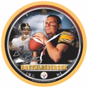 Pittsburgh Steelers Ben Roethlisberger Sky Background Wall Clock