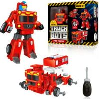USA Toyz 3-in-1 Truck Bots Fire Truck Robots for Kids