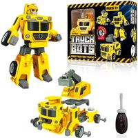 USA Toyz 4-in-1 Truck Bots Construction Truck Robots for Kids