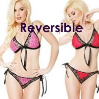 Reversible Crotchless Lingerie Set