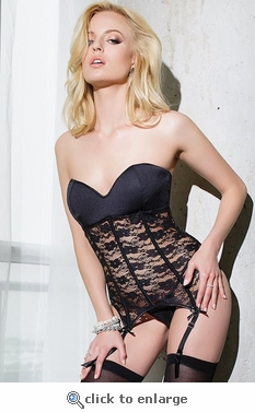 Bustier with Removable Cap Sleeves